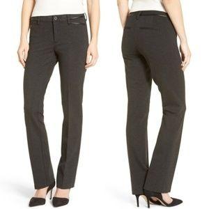 NYDJ 6 Marilyn Straight Leg Ponte Pant Charcoal
